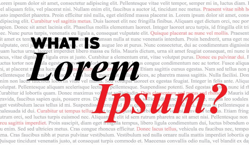 The standard Lorem Ipsum passage, used since the 1500s